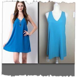 Mary & Mabel Turquoise Sleeveless Shift Dress